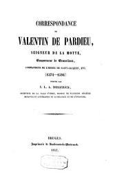 Correspondance de Valentin de Pardieu