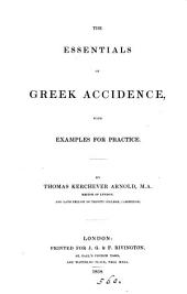 The essentials of Greek accidence, with examples