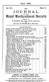 Journal of the Royal Horticultural Society: Volume 12
