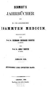 Jahrbücher der in- und ausländischen gesammten Medizin: Band 102