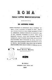 Roma nell'anno 1838 descritta da Antonio Nibby: Parte seconda moderna, Volume 2