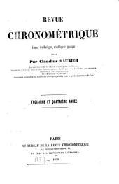 Revue chronométrique: Volume2