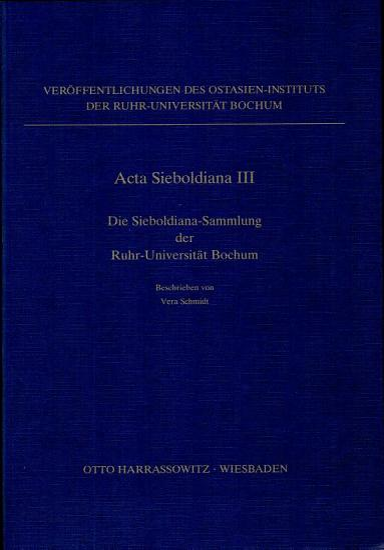 Die Sieboldiana Sammlung der Ruhr Universit  t Bochum PDF