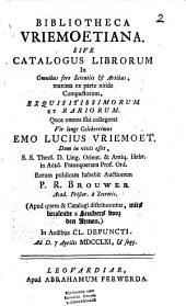 Bibliotheca Vriemoetiana