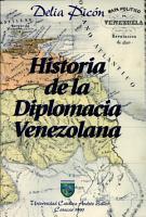 Historia de la diplomacia venezolana PDF