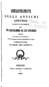 Ammaestrammenti degli antichi, latini e toscani
