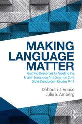 Making Language Matter Book PDF