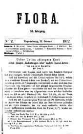 Flora: oder, Allgemeine botanische Zeitung, Band 55