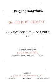 An Apologie for Poetrie: 1595