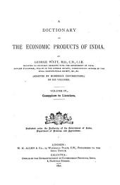 A Dictionary of the Economic Products of India: Gossypium to Linociera