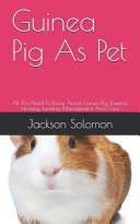 Guinea Pig As Pet PDF