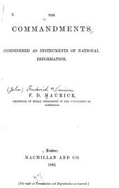 The Commandments Considered as Instruments of National Reformation