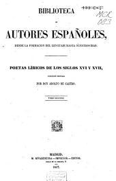 Poetas líricos de los siglos 16 y 17