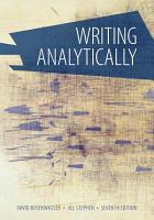 Writing analytically 7th edition PDF