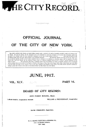 The City Record: Official Journal, Volume 45, Part 7