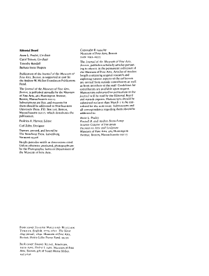 Journal of the Museum of Fine Arts  Boston PDF