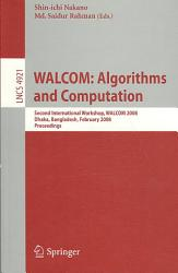 WALCOM  Algorithms and Computation PDF