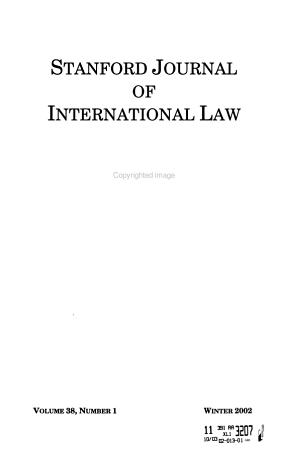 Stanford Journal of International Law PDF