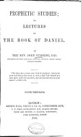 Prophetic Studies  Or  Lectures on the Book of Daniel PDF