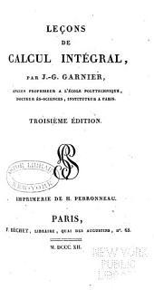 Leçons de calcul intégral