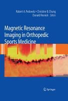 Magnetic Resonance Imaging in Orthopedic Sports Medicine PDF