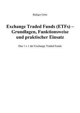 Exchange Traded Funds  ETFs  PDF