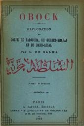 Obock: exploration du golfe de Tadjoura, du Gubbet Kharab et de Bahr-Assal