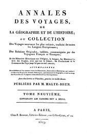 Annales des voyages de la géographie et de l'histoire: Volume9