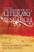 The Handbook to Literary Research PDF