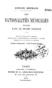 Les nationalités musicales étudiées dans le drame lyrique