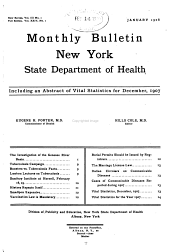 Health News: Monthly Bulletin [of The] New York State Dept. of Health