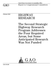 Highway Research: The Second Strategic Highway Research Program Addresses the Four Required Areas, But Some Anticipated Research was Not Funded