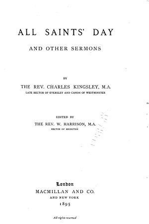 Collected Works of Charles Kingsley  All saints  day PDF