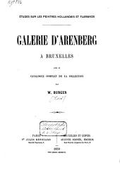 Galerie d'Arenberg à Bruxelles: avec le catalogue complet de la collection
