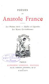 Poésies de Anatole France ...