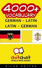 4000+ German - Latin Latin - German Vocabulary