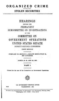 Hearings  Reports and Prints of the Senate Committee on Government Operations PDF