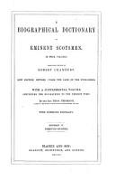A Biographical Dictionary of Eminent Scotsmen PDF