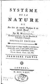 Système de la nature: Volume1