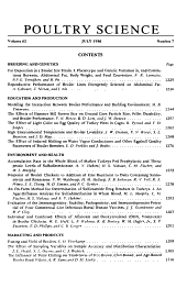 Poultry Science PDF