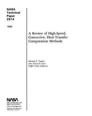 A Review of High speed  Convective  Heat transfer Computation Methods PDF