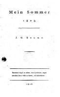 Mein Sommer 1805 PDF
