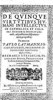 Theses philosophicae de quinque virtutibus humani intellectus