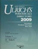 ULRICHS PERIODICALS DIRECTORY 2009 47 PDF