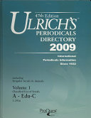ULRICHS PERIODICALS DIRECTORY 2009 47 PDF
