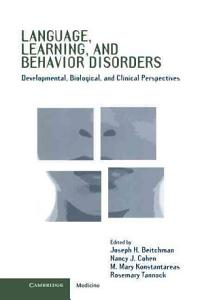 Language  Learning  and Behavior Disorders Book
