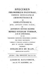 Monographiæ Ammoniteorum et Goniatiteorum Specimen