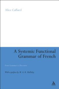 A Systemic Functional Grammar of French PDF