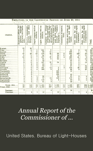 Annual Report of the Commissioner of Light Houses to the Secretary of Commerce PDF