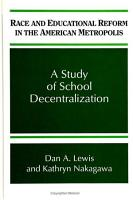 Race and Educational Reform in the American Metropolis PDF